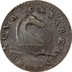1787 New Jersey Copper. M.46-e. Rarity-1. VF-25 ANACS.