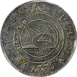 1776 Continental Unit or Dollar. Newman 1-C. CURENCY. EF Details – Plugged – Genuine PCGS.