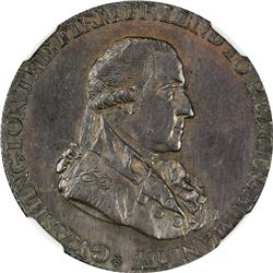 1795 Washington. Grate Token Halfpenny. Large Buttons, Reeded Edge. Baker-29, D&H-283a, W-10955. MS-