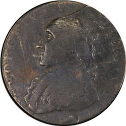 Undated (1795) Washington North Wales Halfpenny. 2 Stars. Baker-35, Breen-1298, W-11190. Copper. VF-