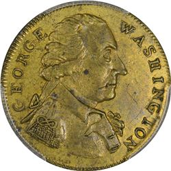 Undated Washington Success to the United States Token. Small Diameter, Reeded Edge. Baker-267, Breen