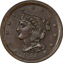 1855 C-1. MS-64 BN NGC.