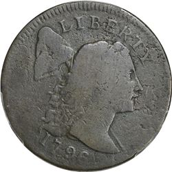 1796 Liberty Cap. S-84, BW-5. Date Slopes Right. Rarity-3. Good-06 PCGS.