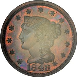 1848 N-19. Low Rarity-6 as a Proof. Proof-65 RB NGC.