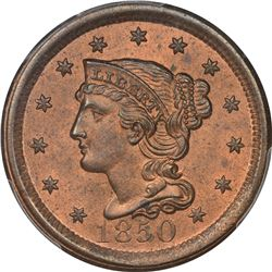 1850 N-11. Rarity-3. MS-64 RB PCGS. CAC.