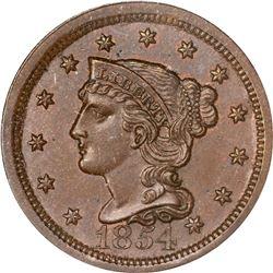 1854 N-8. Rarity-1. MS-65 BN PCGS