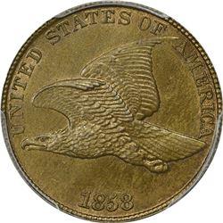 1858 Large Letters. MS-63 PCGS.