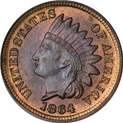1864/1864 Bronze. Snow-2, FS-006.48. MS-65 RB NGC.