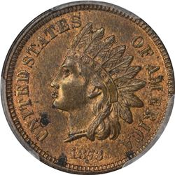 1873 Closed or Close 3. MS-63 RB PCGS.