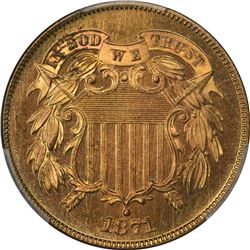 1871 Doubled Die Obverse. Proof-65 RD PCGS
