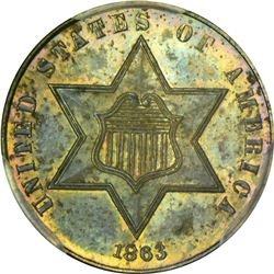 1863 Proof-63 PCGS.