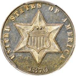 1870 Proof-63 PCGS.