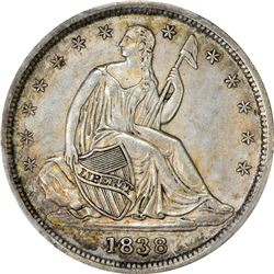 1838 Small Stars. Fortin-101a, FS-801. Doubled Die Reverse. AU-58 PCGS.