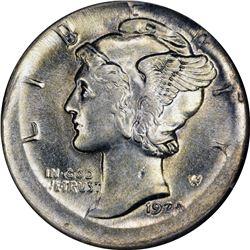 Mint Error. 1920-S Dime. Broadstruck. AU-58 NGC
