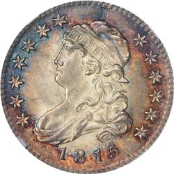 1815 B-1. Rarity-1. E Counterstamp. MS-64+ NGC.