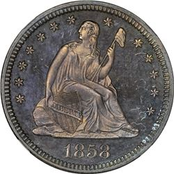 1858 Proof-66 NGC. CAC.