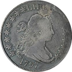 1797 O-101. 15 Stars. Rarity-5. Genuine – Plugged – Fine Details PCGS.