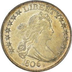 1806 O-119a. Pointed 6, Stem. Rarity-3. AU-55 PCGS.
