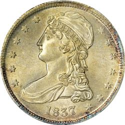 1837 Reeded Edge. 50 CENTS. MS-63 PCGS