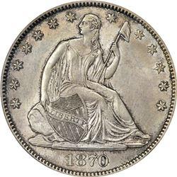 1870-S MS-60 PCGS. OGH