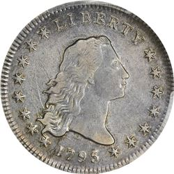 1795 Flowing Hair. B-9, BB-13. Head of '94. 2 Leaves. Rarity-3. EF-40 PCGS.