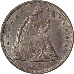 1847 AU-55 PCGS
