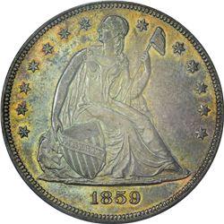 1859 AU-58 PCGS. OGH
