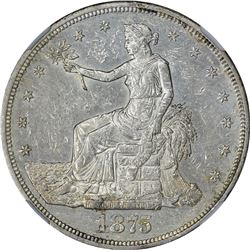 1875-CC Uncirculated Details – Obverse Damage – NGC.