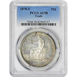 1878-S T$1 AU58 PCGS