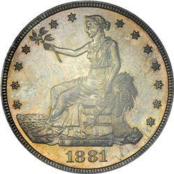 1881 Trade Dollar. Genuine – Damage – UNC Details PCGS