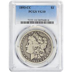 1893-CC VG-10 PCGS.