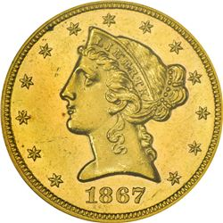 1867 MS-61 PL NGC.
