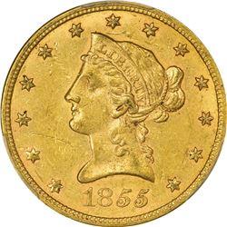 1855 AU-55 PCGS.