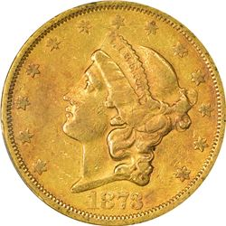 1873-S Closed or Close 3. EF-40 PCGS.