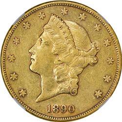1890-CC AU Details – Improperly Cleaned – NGC.