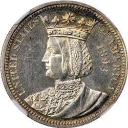 1893 Isabella 25¢. Proof-64 NGC.