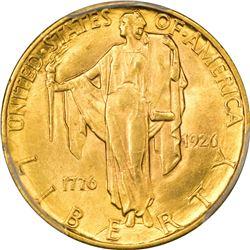 1926 Sesquicentennial $2.50. MS-62 PCGS.