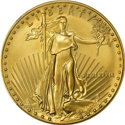1989 American Eagle Gold $50. One Ounce. MS-69 NGC.