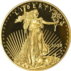 2008-W American Eagle $25 Gold. ½ Ounce. Proof-70 DCAM PCGS.