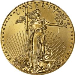 2015 American Eagle Gold $50. One Ounce. MS-69 NGC.