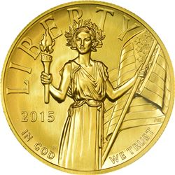 2015-W Liberty Gold $100. High Relief. One Ounce. MS-70 NGC.
