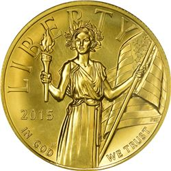 2015-W Liberty Gold $100. High Relief. One Ounce. MS-69 NGC.