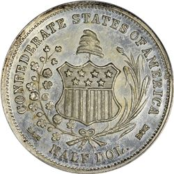 """1861"" (circa 1879) Scott Confederate States of America ""Restrike."" White Metal. Breen-8003. MS-63 P"
