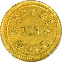 1830 Templeton Reid $2.50. Georgia Gold. Kagin-1. Reeded Edge. Rarity-6. MS-61 PCGS. CAC.