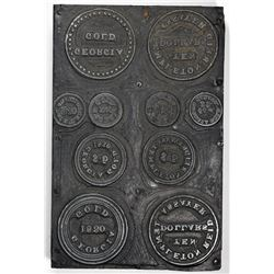 Printer Plate of Pioneer Gold Pieces