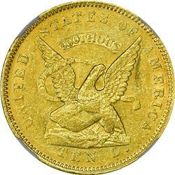 California. San Francisco. 1853 United States Assay Office of Gold $10. Kagin-16. Low Rarity-6. 900