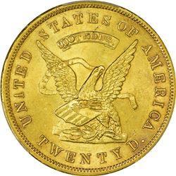 California. San Francisco. 1853 United States Assay Office of Gold $20. Kagin-18. Rarity-2. 900/880
