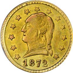 1872 Round 25¢. BG-818. Washington Head. Rarity-4. AU-58 PCGS.