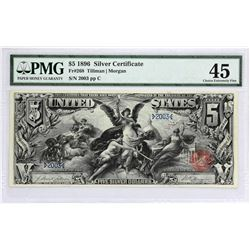 Fr. 268. 1896 $5 Silver Certificate. PMG Choice Extremely Fine 45.