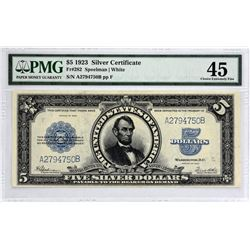 Fr. 282. 1923 $5 Silver Certificate. PMG Choice Extremely Fine 45.